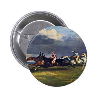 The Epsom Derby By Géricault Jean Louis Théodore ( Pinback Buttons