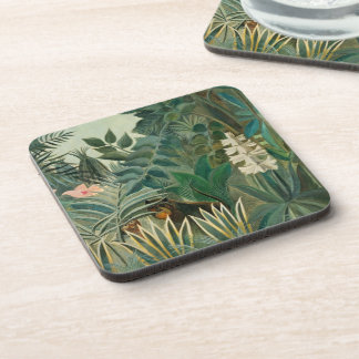 The Equatorial Jungle, 1909 (oil on canvas) Beverage Coaster