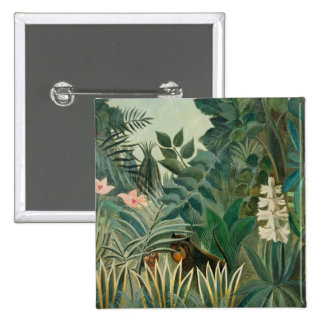 The Equatorial Jungle, 1909 (oil on canvas) Pinback Button