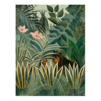 The Equatorial Jungle, 1909 (oil on canvas) Postcard