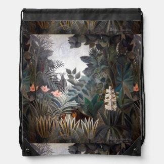 The Equatorial Jungle Drawstring Bags