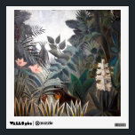 """The Equatorial Jungle Wall Sticker<br><div class=""""desc"""">&quot;The Equatorial Jungle&quot; painted by Henri Julien F&#233;lix Rousseau (May 21,  1844–September 2,  1910),  a French Post-Impressionist painter in the Na&#239;ve or Primitive manner. Personalize with a monogram,  name,  etc.  Contact 400 Planets for special requests.</div>"""