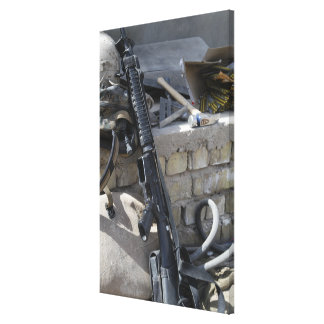 The equipment of a Marine Gallery Wrapped Canvas