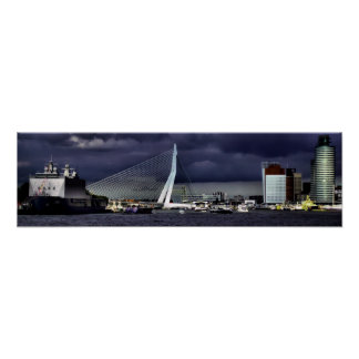 The Erasmus Bridge, Rotterdam Poster