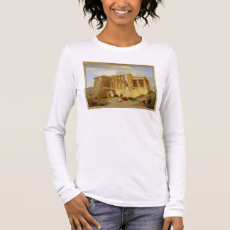 The Erechtheum, Athens, with Figures in the Foregr Long Sleeve T-Shirt