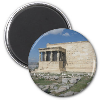 The Erecthion is part of ancient Greek Acropolis 2 Inch Round Magnet