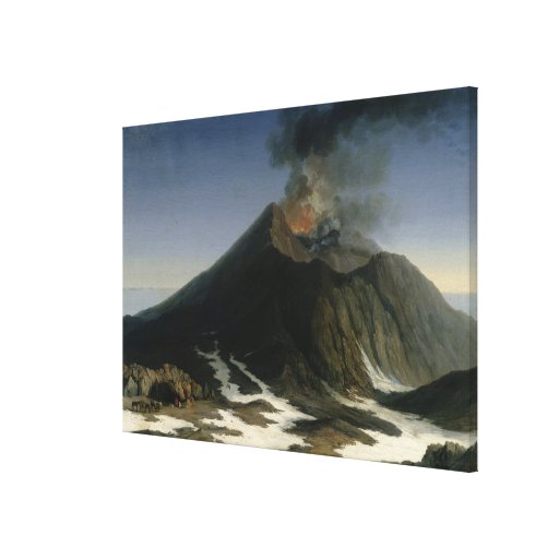 The Eruption of Etna Stretched Canvas Prints