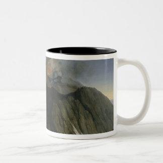 The Eruption of Etna Two-Tone Coffee Mug
