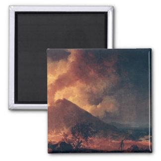 The Eruption of Mount Vesuvius in 1771 2 Inch Square Magnet