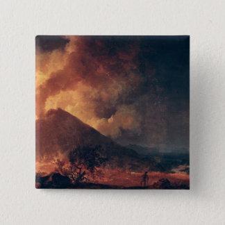 The Eruption of Mount Vesuvius in 1771 Pinback Button