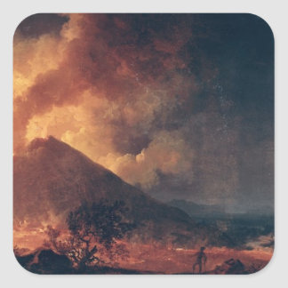 The Eruption of Mount Vesuvius in 1771 Square Sticker
