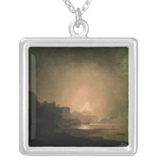 The Eruption of Mount Vesuvius Silver Plated Necklace