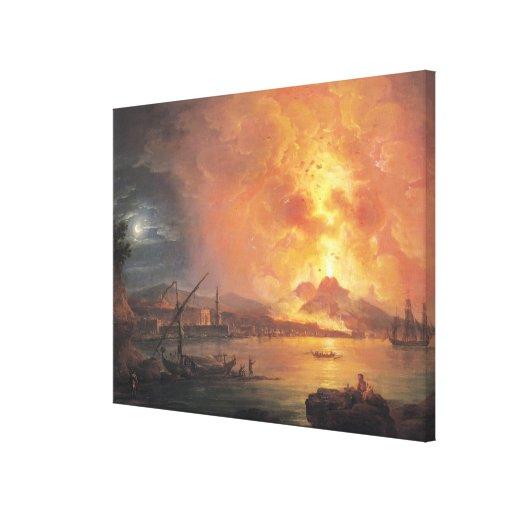 The Eruption of Vesuvius Canvas Prints
