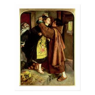 The Escape of a Heretic, 1559, 1857 (oil on canvas Postcard