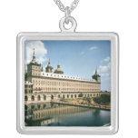 The Escorial Monastery Square Pendant Necklace