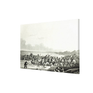 The Eskimoes Pillaging the Boats Canvas Print