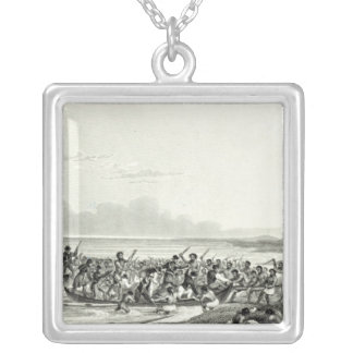 The Eskimoes Pillaging the Boats Silver Plated Necklace