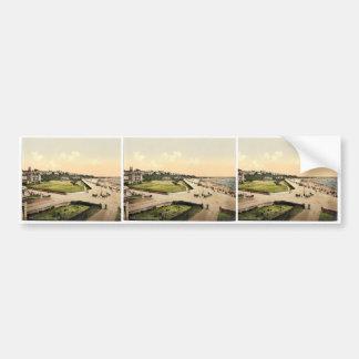 The Esplanade, Exmouth, England classic Photochrom Car Bumper Sticker