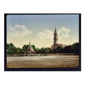 The esplanade, Nimes, France vintage Photochrom Postcard