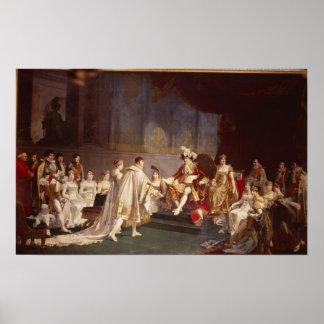 The espousal of Prince Jerome Bonaparte Poster