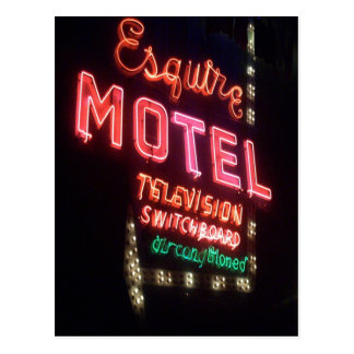 The Esquire, Vintage Chicago Neon Sign Postcard