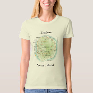 The Essential Nevisian Journey Map Tee for Women