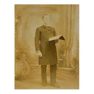 The Esteemed Reverend LAHR, circa 1870 Postcard