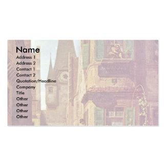 The Eternal Bridegroom By Spitzweg Carl Business Card