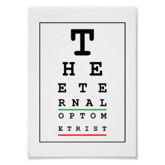 The Eternal Optometrist Poster