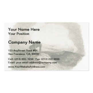 The eternal silence frightens me by Odilon Redon Double-Sided Standard Business Cards (Pack Of 100)