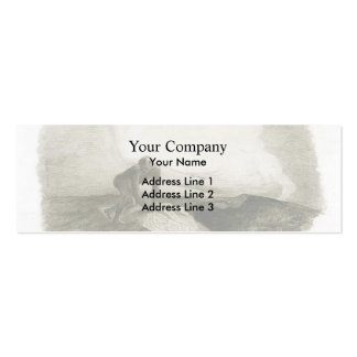 The eternal silence frightens me by Odilon Redon Double-Sided Mini Business Cards (Pack Of 20)