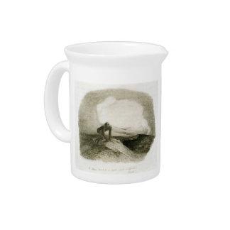 The eternal silence frightens me by Odilon Redon Drink Pitcher