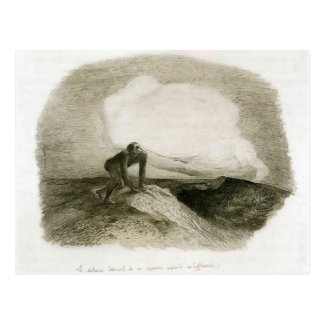 The eternal silence frightens me by Odilon Redon Postcard
