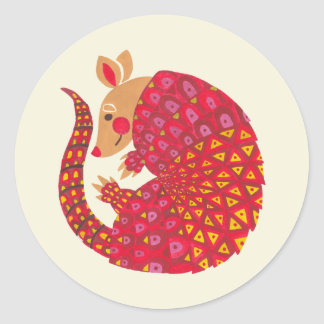 The Ethnic Armadillo Classic Round Sticker