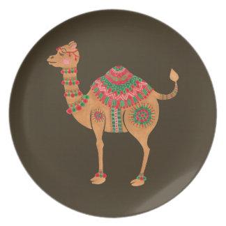 The Ethnic Camel Melamine Plate