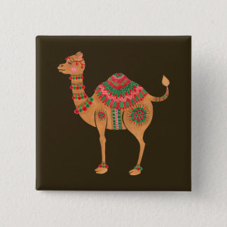 The Ethnic Camel Pinback Button