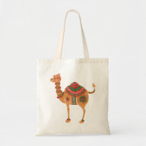The Ethnic Camel Tote Bag