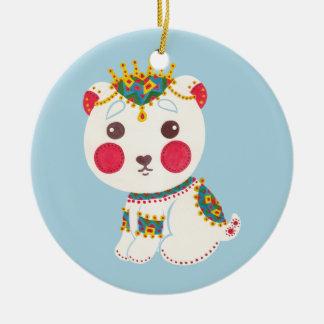 The Ethnic Polar Bear Ceramic Ornament