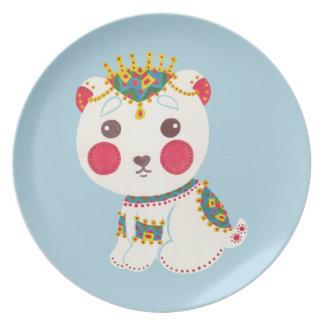 The Ethnic Polar Bear Party Plate