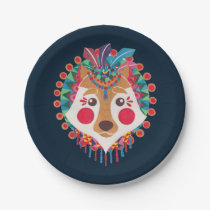 The Ethnic Wolf Paper Plate