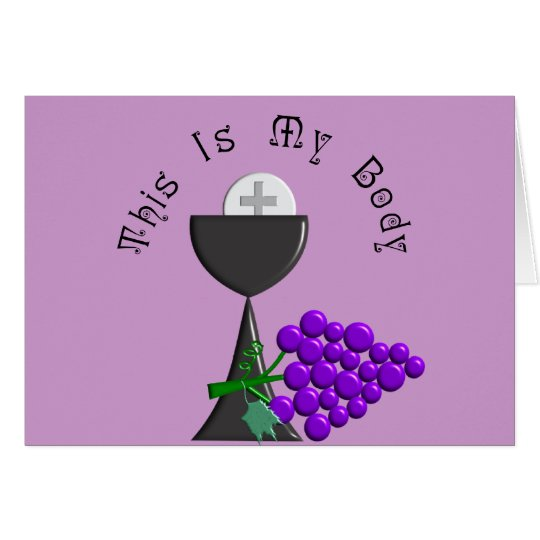 The Eucharist Chalice & Communion Host Gifts Card