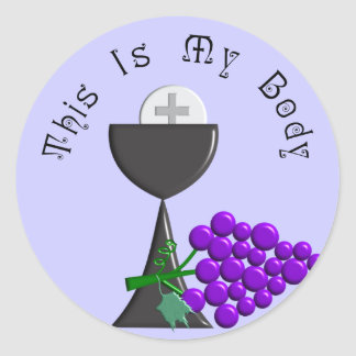 The Eucharist Chalice & Communion Host Gifts Classic Round Sticker
