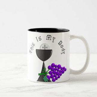 The Eucharist Chalice & Communion Host Gifts Two-Tone Coffee Mug