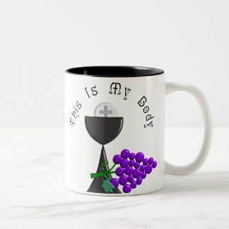 The Eucharist Chalice & Communion Host Gifts Two-Tone Coffee Mug