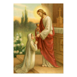 The Eucharist in All Things Prayer Cards Large Business Card