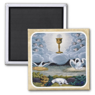 The Eucharist 2 Inch Square Magnet