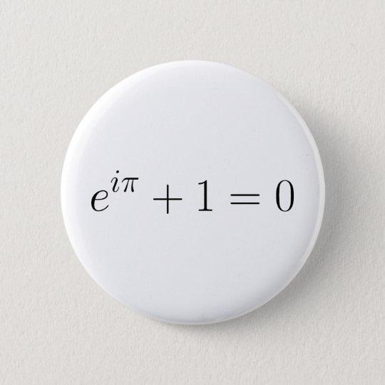 The Euler formula Pinback Button