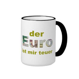 the euro is expensive me ringer mug