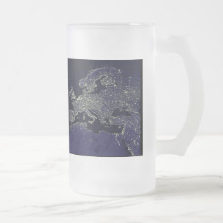 The European continent of the night when you saw Frosted Glass Beer Mug