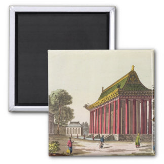 The 'European Palace' at Yuen-Ming-Yuan, illustrat 2 Inch Square Magnet